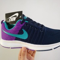 """""""Nike"""" Women Sport Casual Multicolor Fly Weave Sneakers Running Shoes"""