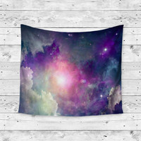 """Clouded Vision"" Purple Cloud Space Galaxy Wall Tapestry"