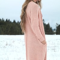 Blush Maxi-Sweater with Pockets