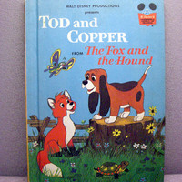 1981 Fox and the Hound Tod and Copper Vintage by VintageWoods