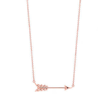 Tiffany & Co. - Tiffany Hearts® arrow pendant in RUBEDO® metal, small.