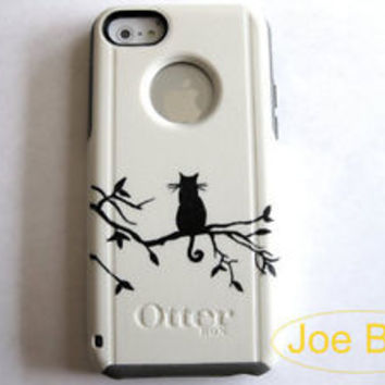 Custom Otterbox Commuter iphone 5C cat case