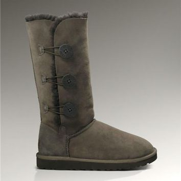 UGG Bailey Button Triplet 1873 Boots Chocolate