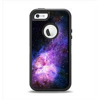 The Vibrant Purple and Blue Nebula Apple iPhone 5-5s Otterbox Defender Case Skin Set
