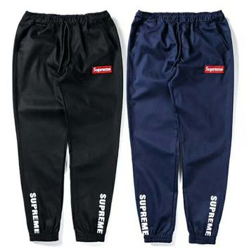 Supreme Popular Women Men Personality Embroidery Logo Sport Running Pants Trousers Sweatpants(2-Color) I-CN-CFPFGYS