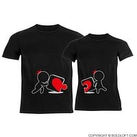 Incomplete Without You™ His & Hers Matching Couple Shirt Set Black