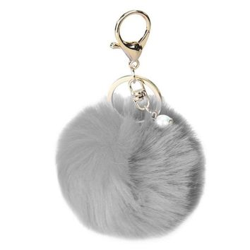 Fashion Plushball Keychain Pom Pom