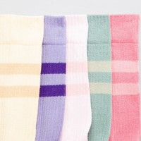ASOS DESIGN Sports Style Socks In Pastel Colours & Tonal Stripes 5 Pack at asos.com