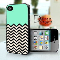 Mint Chevron - iPhone 4S and iPhone 4 Case Cover