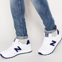 New Balance 574 Textile Trainers