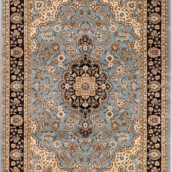 2917 Light Blue Medallion Persian Area Rugs