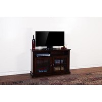 Sunny Designs Vineyard TV Console In Rustic Mahogany