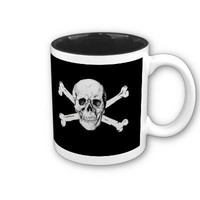 Pirate Skull and Crossbones Coffee Mugs from Zazzle.com