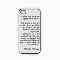 Marilyn Monroe Quote iPhone 5 Case, iPhone 4 Case, iPhone 4s Case