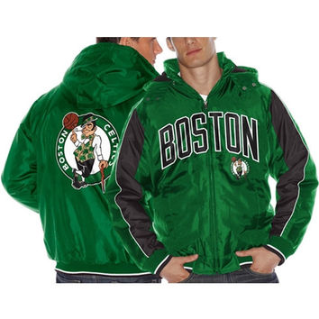 Boston Celtics Rover Poly Hooded Full Zip Jacket – Kelly Green