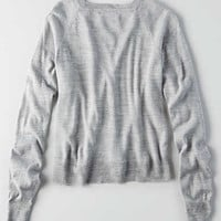 Don't Ask Why Raglan Sweater, Gray