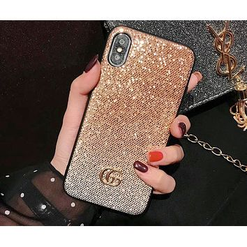 GUCCI Tide brand gradient glitter iPhoneXS max mobile phone case cover #2