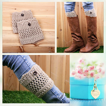 Knit Boots Winter Lace Hollow Out Twisted Socks [9184246660]