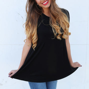 Give And Take Tunic {Black}