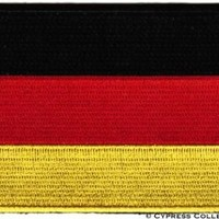 GERMAN FLAG embroidered iron-on PATCH GERMANY EMBLEM Deutschland Aufnäher NEW