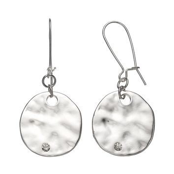 Apt. 9 Hammered Disc Drop Earrings (Grey)