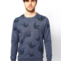New Look Sweat with Bird Print