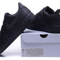 LMFON Nike Air Force 1 718152 Black For Women Men Running Sport Casual Shoes Sneakers