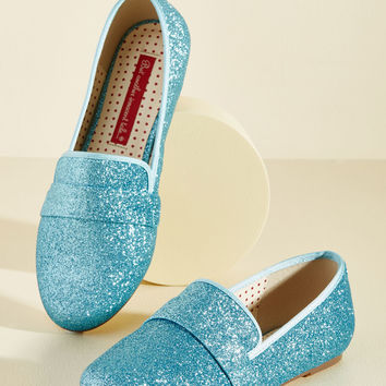 Third Shine's a Charm Loafer in Ice | Mod Retro Vintage Flats | ModCloth.com