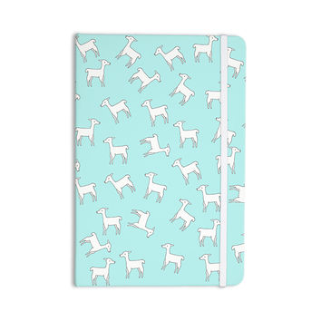 "Monika Strigel ""Baby Llama Multi"" Blue White Everything Notebook"