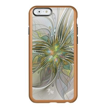 Floral Fantasy, Abstract Fractal Art Monogram Incipio Feather® Shine iPhone 6 Case
