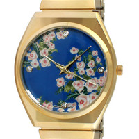The Easy Flex Watch in Blue Floral