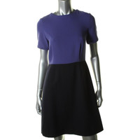 Marc by Marc Jacobs Womens Wool Short Sleeves Wear to Work Dress