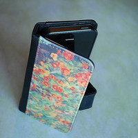 Monet's Garden Bifold Wallet Phone Case - Fabric and Faux Leather