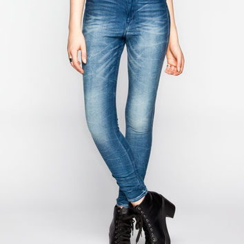Almost Famous Crave Fame Womens Highwaisted Skinny Jeans Dark Blast  In Sizes
