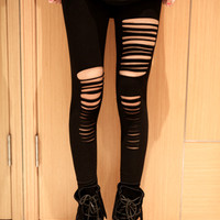 Fashionable Style Solid Color Hipster Slimming Leggings For Women