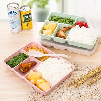 Japanese Bento Box For Food With Containers Microwave Lunchbox For Kids School Office Picnic Food Container