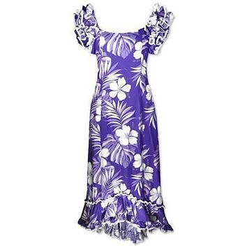waikiki purple meaaloha hawaiian dress