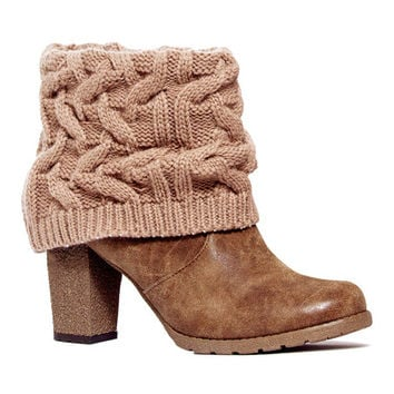 Mocha Mousse Chris Knit-Cuff Bootie | zulily
