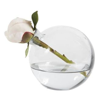"Sphere Vase, 5"", Smoke"