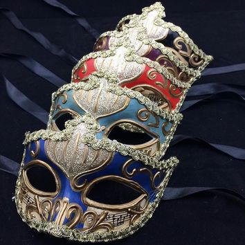 1pcs Costume Prom Mask Sexy Men Women Mask Mardi Gras Party Dance Masquerade Ball Halloween Mask Fancy Dress
