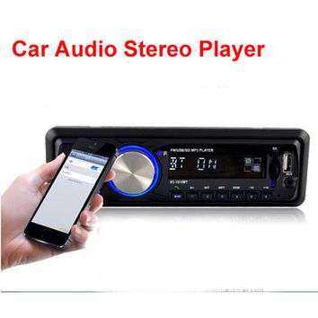 1-DIN LR30 Universal 12V Stereo MP3 Player/FM/SD/AUX/USB/Bluetooth Speakerphone In-Dash Car Radio w/ Remote Control