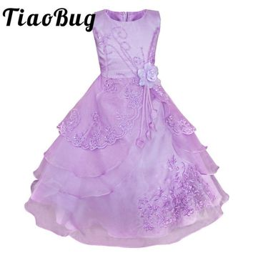 Tiaobug 2017 New Arrival Flower Girls Dress Birthday Party Pageant Princess Formal Dress Sequins Bow Baby Toddler Tulle Dress