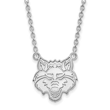 NCAA Sterling Silver Arkansas State Large Pendant Necklace