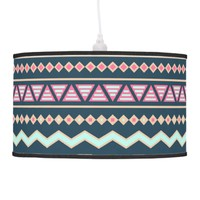 Colorful Abstract Aztec Tribal Pattern Ceiling Lamp