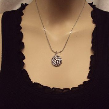 Sports Bling Necklace - Volleyball/Water Polo