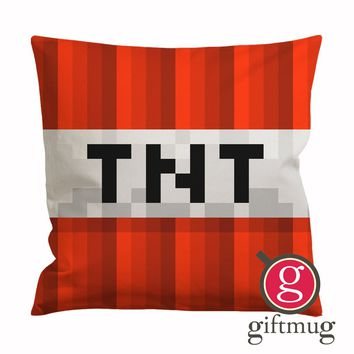 Minecraft TNT Logo Cushion Case / Pillow Case