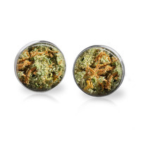 SUPER LEMON HAZE Bud Studs Glass Bud Earrings Marijuana Studs Weed Jewelry Weed Studs Weed Earrings Pot Earrings Cannabis Hi Def Photo Kush