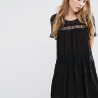 French Connection Rosie Lace Smock Dress at asos.com