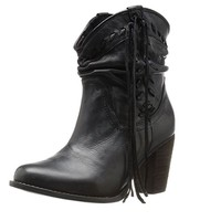 Naughty Monkey Noe Black Heeled Booties