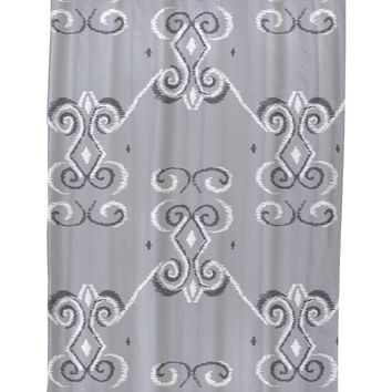 e by design On the Line Geometric Shower Curtain - Grey